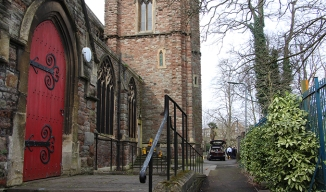 The path alongside St. Agnes Church is a 'hot spot' for drug users