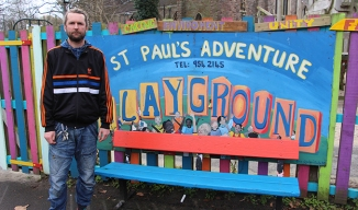 Guy Dobson, Director of Art Play Environment who manage St. Paul's Playground